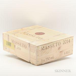 Tenuta dellOrnellaia Masseto 2014, 3 bottles (owc)