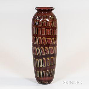 Rick Satava Art Glass Vase