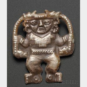 Pre-Columbian Embossed Silver Figure