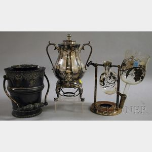 Three Victorian Silver-plated Tableware Items