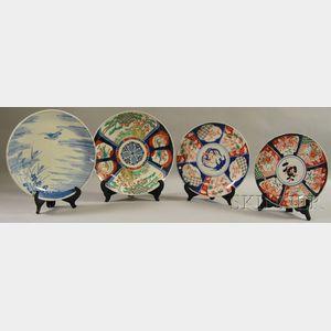 Four Porcelain Chargers
