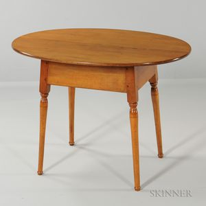 Maple Oval-top Tea Table