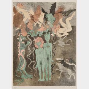 Raphael Soyer (American, 1899-1987)      Temptation