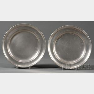 Two Boardman & Co. Pewter Plates