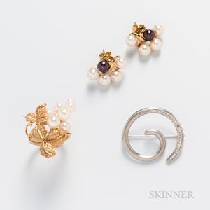 Three Pieces of 18kt Gold Jewelry