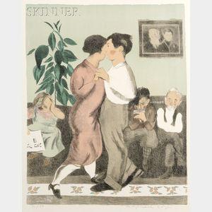 Raphael Soyer (American, 1899-1987)      Dancing at the Social