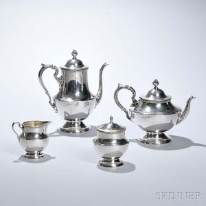 Four-piece Poole Sterling Silver Tea and Coffee Service