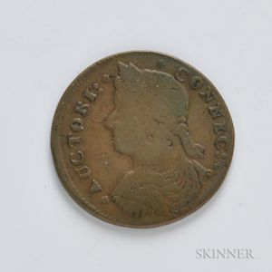 1787 Connecticut Copper, Miller 33.7-r.2, W-3440