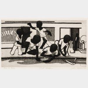 John Wilson (American, 1922-2015)      Street Children
