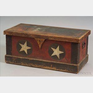 Pine Paint-decorated Militia Box