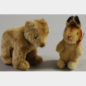 Small Steiff Rabbit and Bear
