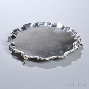 George VI Sterling Silver Salver