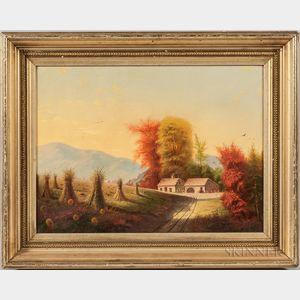 American School, 19th Century       Autumn New England Landscape