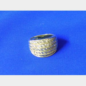 10kt Gold and Diamond Dome Ring.
