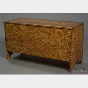 Small Paint-decorated Pine Six-board Chest