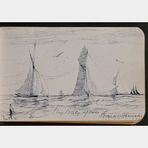 (Autograph/Sketchbook, Salem, Massachusetts), Benson, Frank Weston (1862-1951)