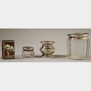 Four Sterling Silver and Silver-mounted Articles