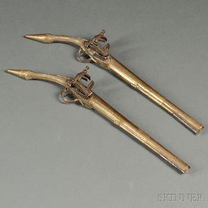 Pair of Ottoman-style Pistols