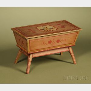 Miniature Painted Pine Dutch-style Dough Box
