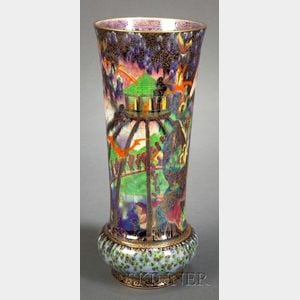 Sold for: $42,300 - Important Wedgwood Fairyland Lustre Vase