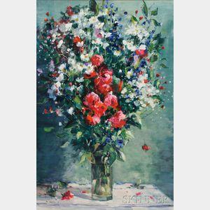 Gaston Sebire (French, 1920-2001)    Floral