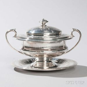 Victorian Sterling Silver Covered Tureen and Underplate