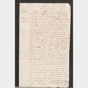 (Slave Sale Document)