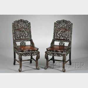 Pair of  Rosewood Chairs