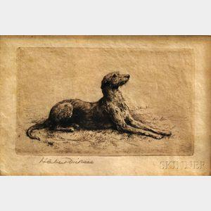 Herbert Thomas Dicksee (British, 1862-1942)      Irish Wolfhound
