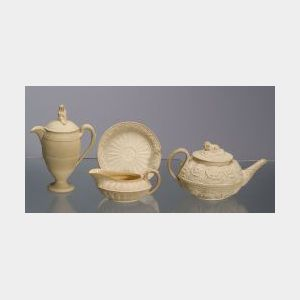 Four Wedgwood Caneware Items