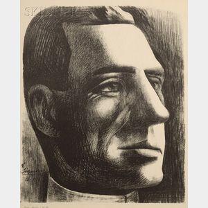 David Alfaro Siqueiros (Mexican, 1896-1974)      Portrait Head