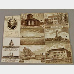 Eight Wedgwood Ceramic Calendar Tiles