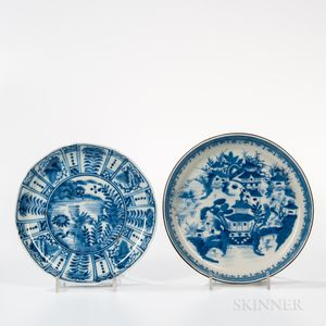Two Export Blue and White Dishes