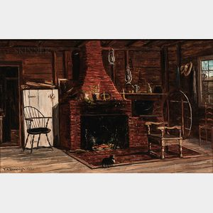 Frank Henry Shapleigh (American, 1842-1906)      Old Kitchen in Scituate