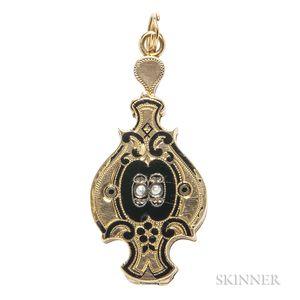 Victorian Gold and Enamel Locket