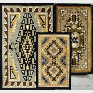 Three Contemporary Navajo Weavings