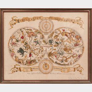 Celestial Chart. Louis Vlasbloem (fl. circa 1675) Stellatum Planisphaerium.