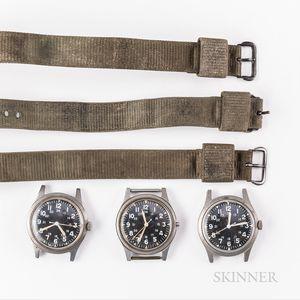 Three Mil-Spec Wristwatches