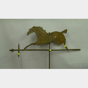 Cut Sheet Iron Running Horse Weather Vane