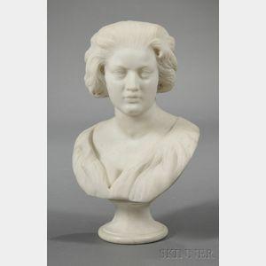 White Marble Bust of Costanza Bonarelli