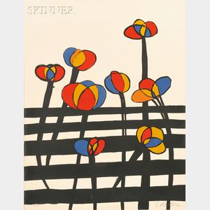 Alexander Calder (American, 1898-1976)      Plate    from MAGIE EOLIENNE