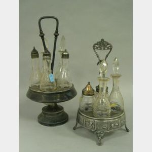 Aesthetic and Victorian Silver Plated Cruet Sets.