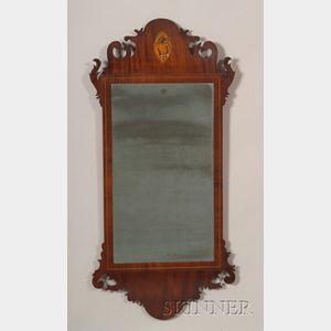 Federal Mahogany Mirror Inlaid Mirror