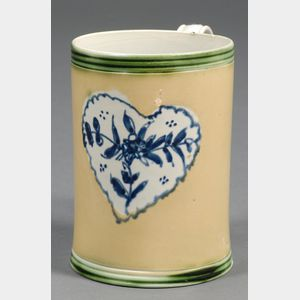 Heart-decorated Pearlware Mug