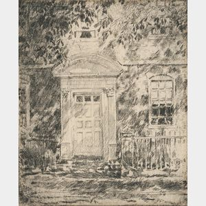 Frederick Childe Hassam (American, 1859-1935)      Portsmouth Doorways