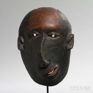 Makonde Carved Wood Deformity Mask