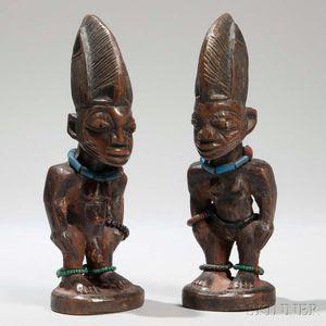 Pair of Yoruba Ibeji Dolls