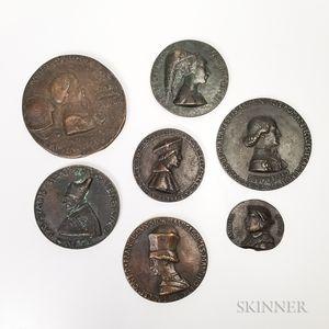 Seven Renaissance-style Medals