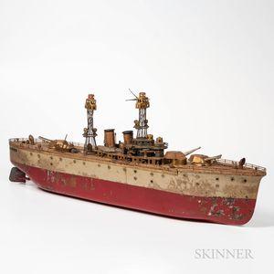Orkin Battleship B2 Winding Toy