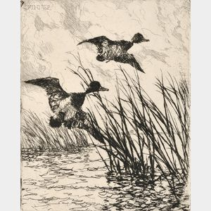 Frank Weston Benson (American, 1862-1951)      Pair of Ducks